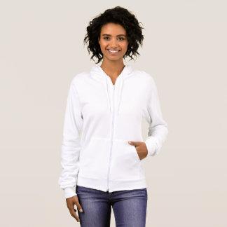 女性のアメリカの服装のフリースのジッパーのフード付きスウェットシャツ パーカ