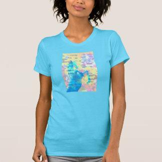 女性のアメリカの服装の罰金のジャージーの短い袖 Tシャツ