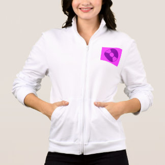 女性のアメリカの服装カリフォルニアフリースのジッパーDJ