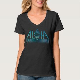 女性のアロハダイヤモンドの樹皮布のTシャツ Tシャツ