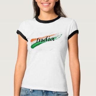 女性のインドの旗のTシャツ Tシャツ