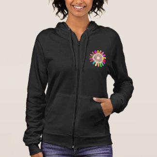 女性のオウムカリフォルニアフリースの袖なしの    チャクラ パーカ