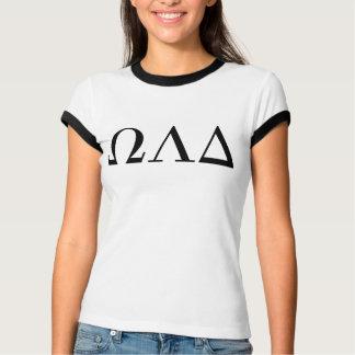 女性のオメガLambdaのデルタの信号器のティー Tシャツ
