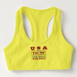 女性のカスタムは米国が付いているブラを遊ばします スポーツブラ