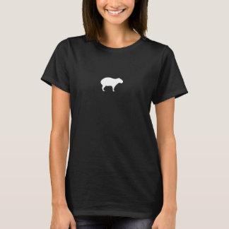 女性のカピバラのTシャツ Tシャツ