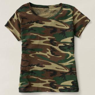 女性のカムフラージュのTシャツ Tシャツ