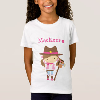 女性のカーボーイの名前入りなTシャツ Tシャツ