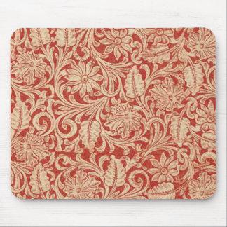 女性のカーボーイの国赤い用具の革プリントのマウスパッド マウスパッド
