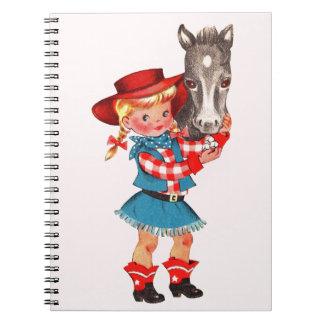 女性のカーボーイの学校のノート ノートブック