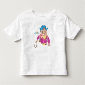 女性のカーボーイの幼児のTシャツ(ヒスパニック) トドラーTシャツ