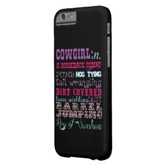 女性のカーボーイの電話箱 BARELY THERE iPhone 6 ケース