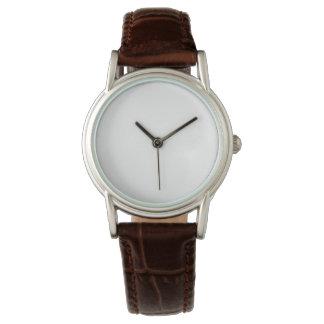 女性のクラシックなブラウンの革バンドの腕時計 ウォッチ