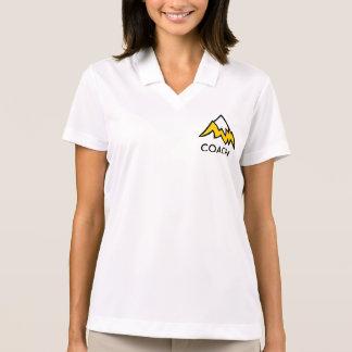 女性のコーチのポロ ポロシャツ