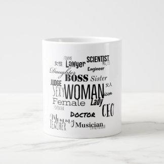 女性のコーヒー・マグ(黒) ジャンボコーヒーマグカップ
