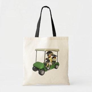 女性のゴルファーのカート トートバッグ