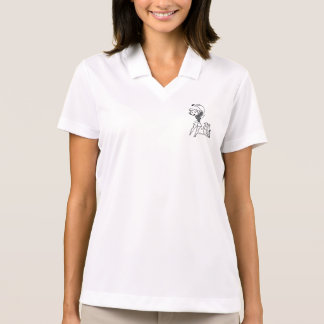 女性のゴルファー ポロシャツ