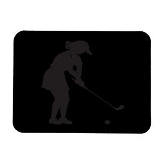 女性のゴルファー マグネット