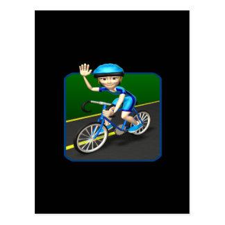 女性のサイクリスト3 ポストカード