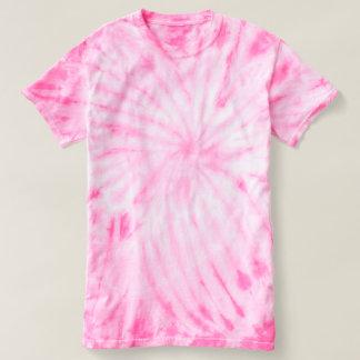 女性のサイクロンの絞り染めのTシャツのピンク Tシャツ
