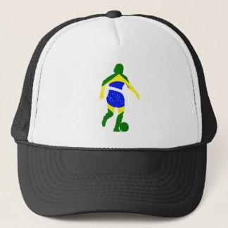 女性のサッカーブラジル キャップ