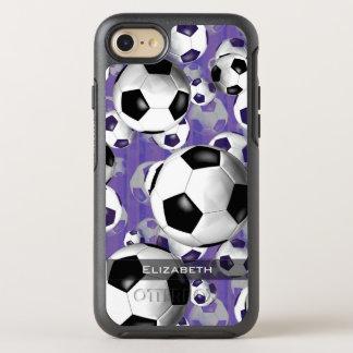 女性のサッカーボールパターン オッターボックスシンメトリーiPhone 8/7 ケース