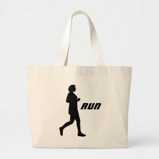 女性のシルエットの操業キャンバスのバッグ ラージトートバッグ