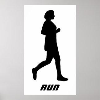 女性のシルエットの操業ポスター ポスター