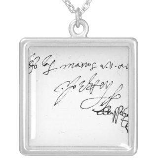 女性のジェーンGrey署名 シルバープレートネックレス