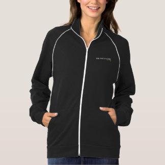 女性のジャケット、黒は、長い袖フリースのファスナーを締めます ジャケット