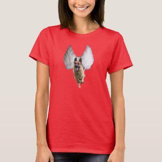 女性のジャーマン・シェパードの天使のTシャツ Tシャツ