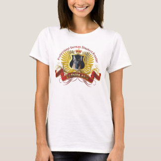女性のジャーマン・シェパードの繁殖動物の基本的なTシャツ Tシャツ