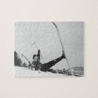 女性のスキーヤー2 ジグソーパズル