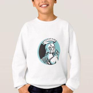 女性のスパルタ式の戦士の円のレトロ スウェットシャツ