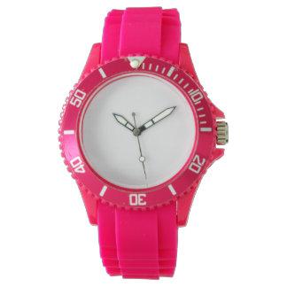 女性のスポーツのピンクのケイ素の腕時計 リストウオッチ