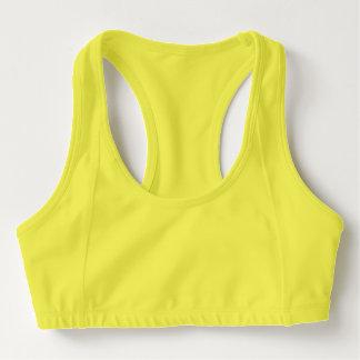 女性のスポーツのブラ、ネオンの黄色 スポーツブラ