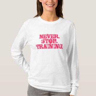 女性のスポーツのプルオーバー Tシャツ