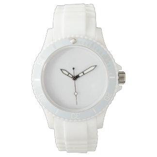 女性のスポーツの白いケイ素の腕時計 腕時計