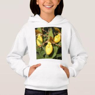 女性のスリッパの女の子のフード付きスウェットシャツ