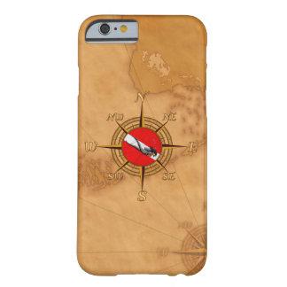 女性のダイバーおよびコンパス BARELY THERE iPhone 6 ケース