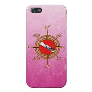 女性のダイバーおよびコンパス iPhone 5 ケース