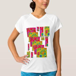 女性のチャンピオンの二重乾燥したV首のTシャツ Tシャツ