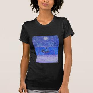 女性のティー月光マルティーニ Tシャツ
