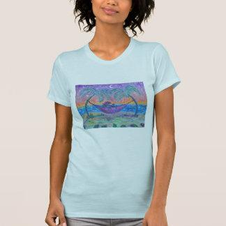 女性のティー-熱帯マルティーニ Tシャツ