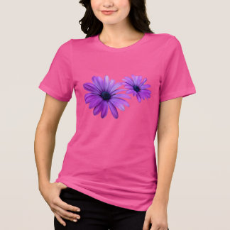 女性のデイジーのTシャツの紫色の花のワイシャツのギフト Tシャツ