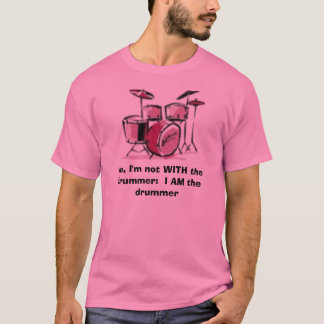 女性のドラマー Tシャツ