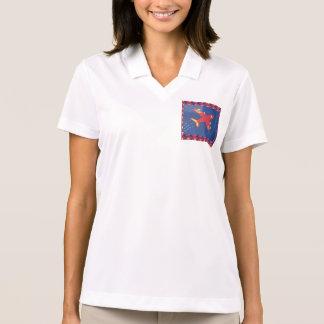 女性のナイキDri適合の悪感情のポロシャツの飛行機 ポロシャツ