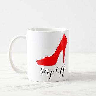 """女性のハイヒールのコーヒー・マグ""""を離れた""""ステップ(赤い) コーヒーマグカップ"""