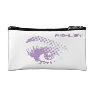 女性のハーフトーンのバイオレットのスタイリッシュでシックでかわいらしい目 コスメティックバッグ