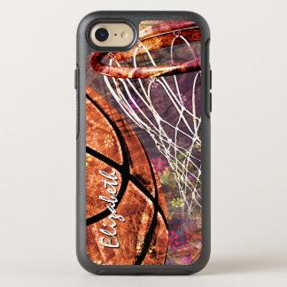 女性のバスケットボールのグラフィック オッターボックスシンメトリーiPhone 8/7 ケース