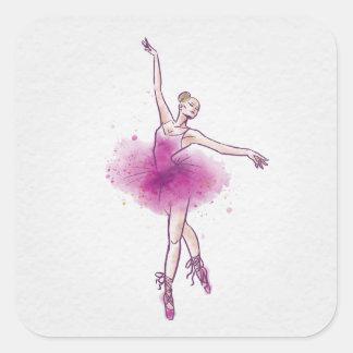 女性のバレエダンサー スクエアシール